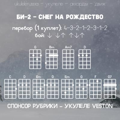 БИ-2 - СНЕГ НА РОЖДЕСТВО - Аккорды для укулеле